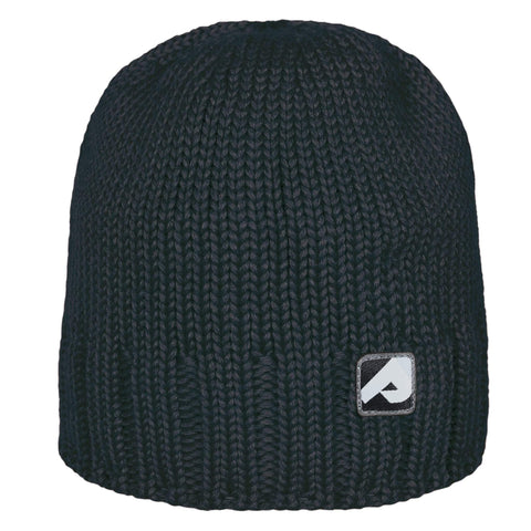 Knitted acrylic hat - black
