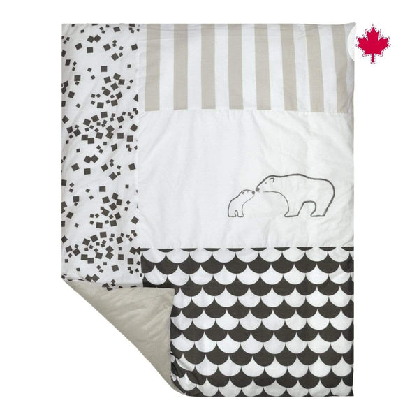 Duvet cover - charcoal bear
