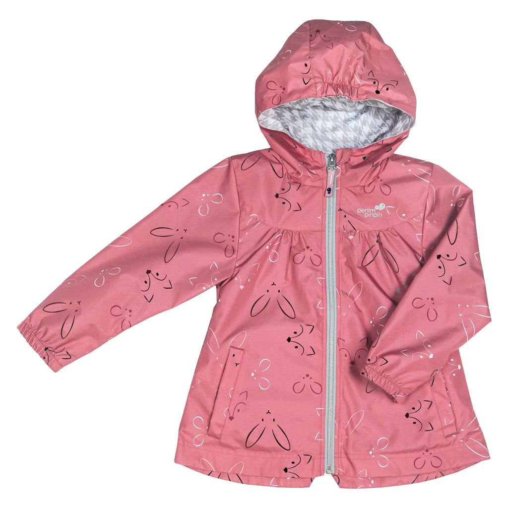 Mid-season coat - Pink animals