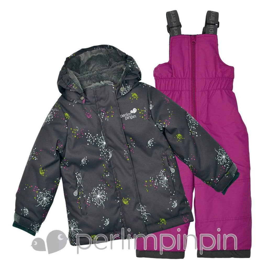 2 pieces baby snowsuit - dandelions print