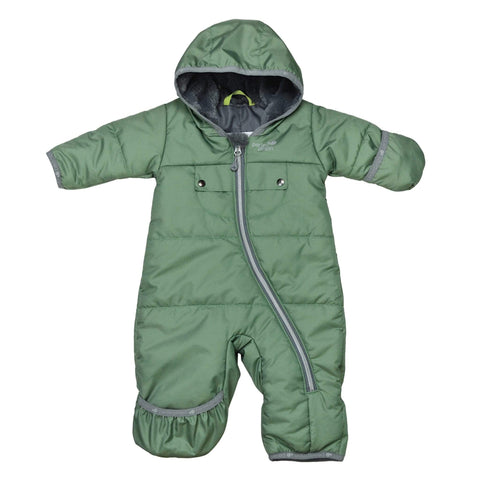 One-piece baby snowsuit - Green
