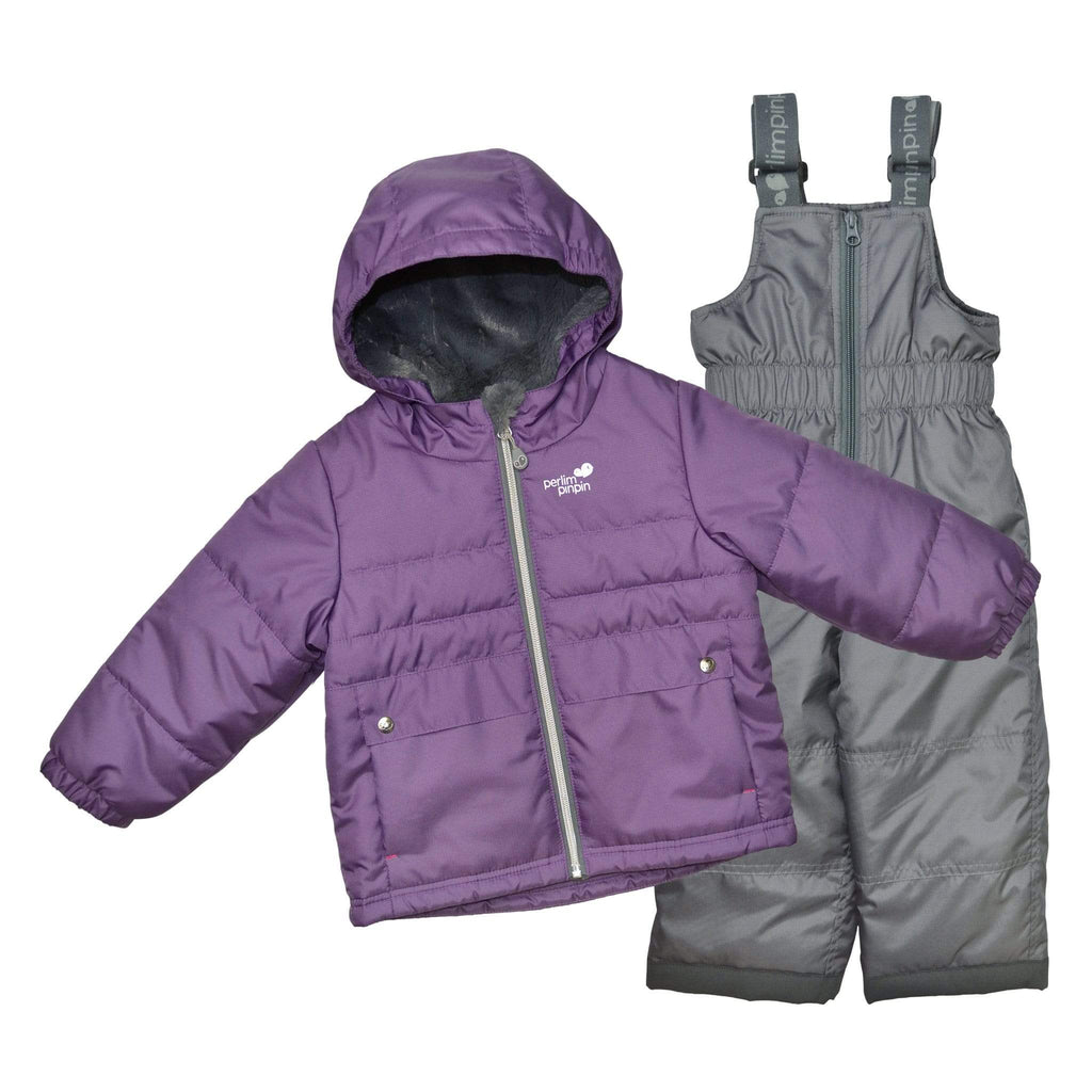 Two pieces child snowsuit - Purple-gray