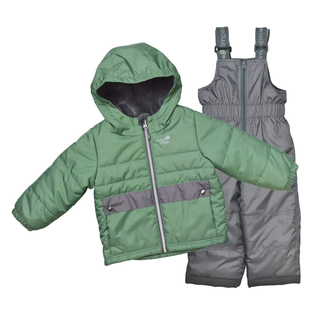 Two pieces child snowsuit - Green-gray