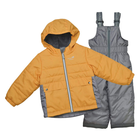 Two pieces child snowsuit - Orange-gray