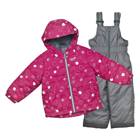 Two pieces child snowsuit - Raspberry-porcupines