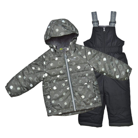 Two pieces child snowsuit - Kaki-porcupines