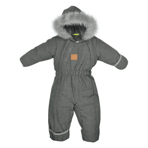 One piece baby snowsuit - Kaki