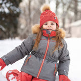 Two pieces girl kid snowsuit - Kaki-langoustine
