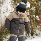 Two pieces boy kid snowsuit - Coal-cassonade