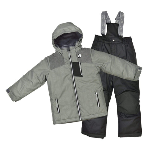 Two pieces boy kid snowsuit - Kaki aztec-kaki-black