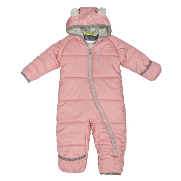 One-piece baby snowsuit - Rose