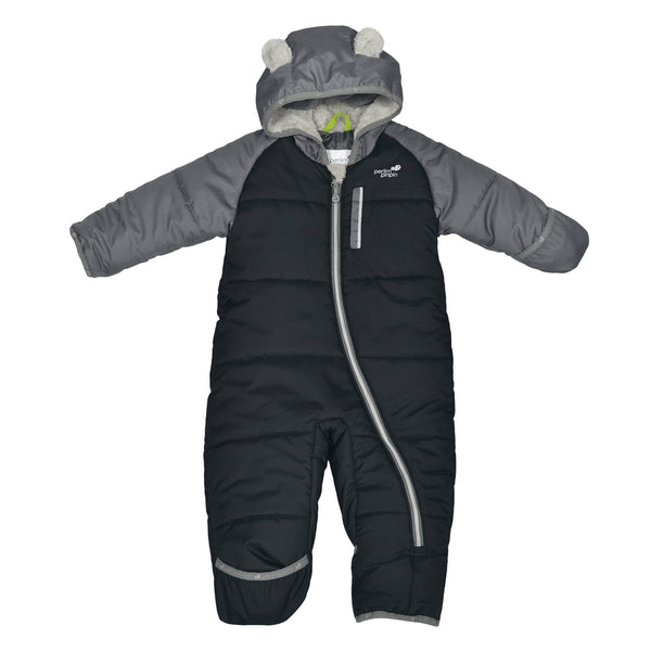 One-piece baby snowsuit - Black