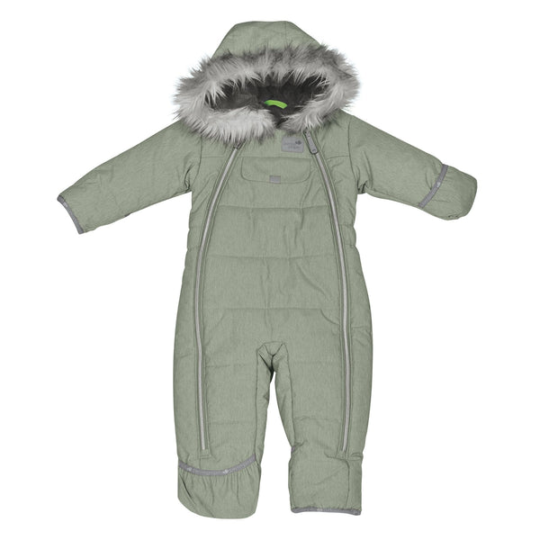 One piece baby snowsuit - Kaki dots