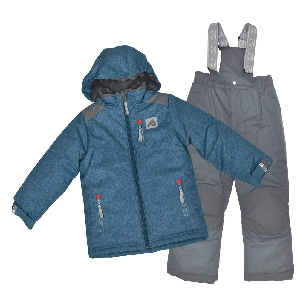 Two pieces boy snowsuit - Textured navy