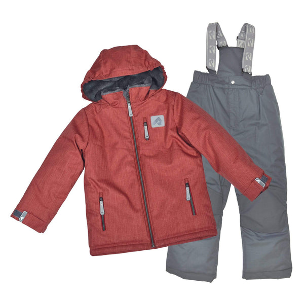 Two pieces boy snowsuit - Textured spicy