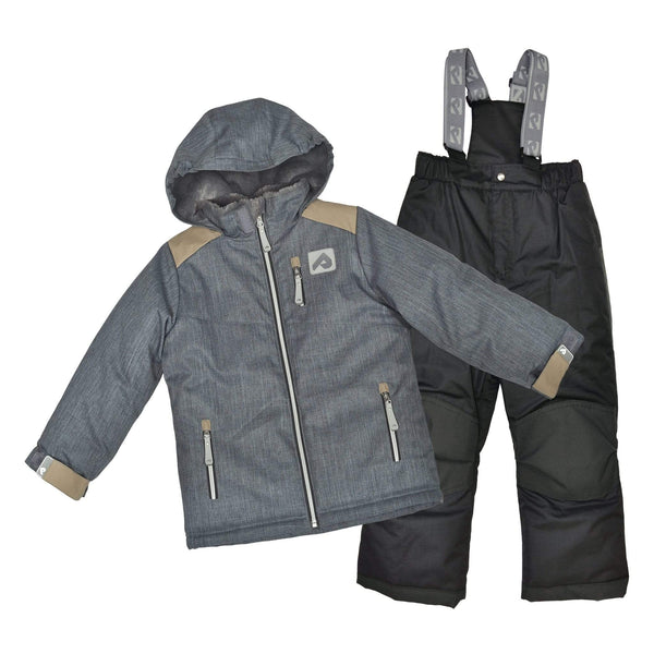 Two pieces boy snowsuit - Textured charcoal