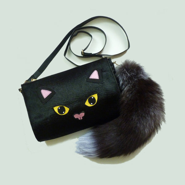 Bright Eyes Bushy Tail Clutch Handbag *Limited edition* - Kate Garey