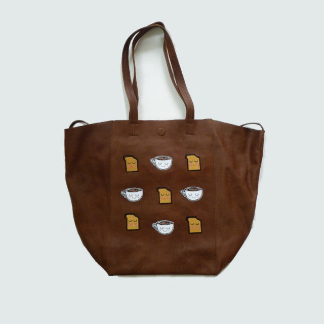 Tea & Toast Brown Large Leather Shopper *Limited edition* - Kate Garey