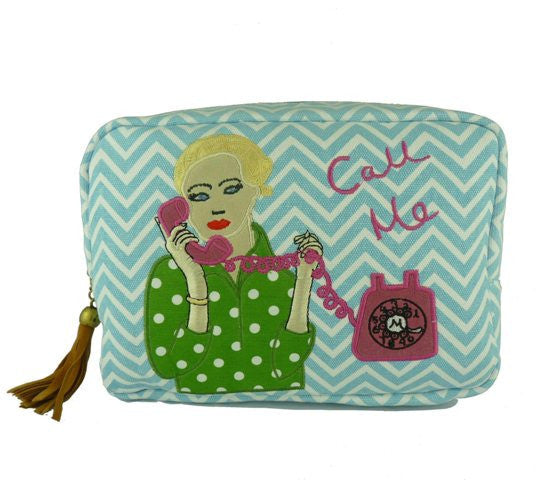 Call Me Large Cosmetic Bag - Kate Garey