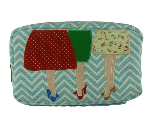 Mad Legs Cosmetic Bag (Aqua) - Kate Garey