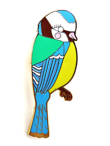 Blue Tit Pin - Kate Garey