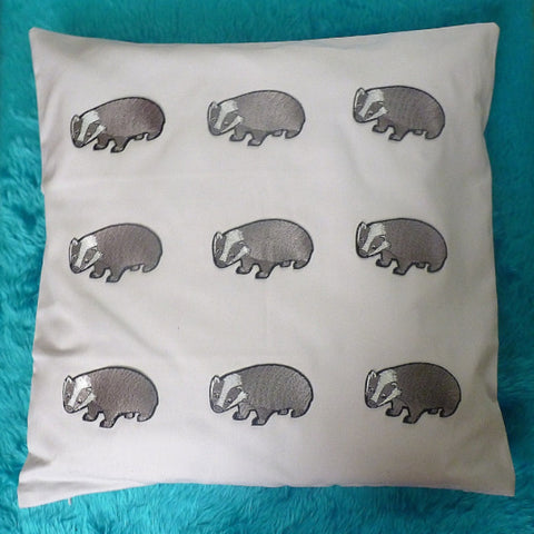 Badger Cushion - Kate Garey