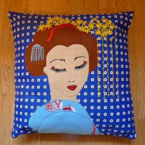 Geisha Cushion Cover - Kate Garey