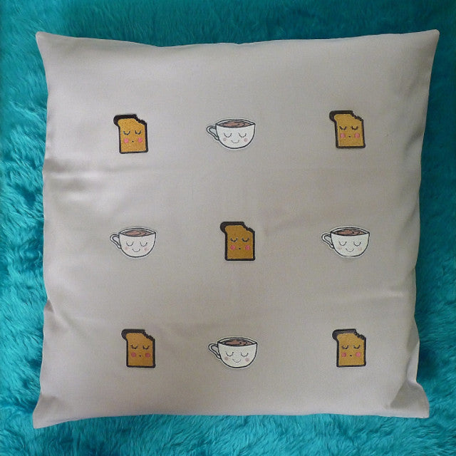 Tea & Toast Cushion - Kate Garey