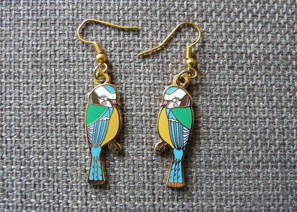 Blue Tits Earrings - Kate Garey