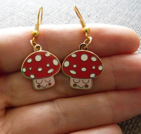 Mushroom Earrings - Kate Garey