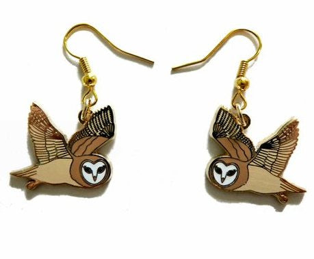 Barn Owl Earrings - Kate Garey