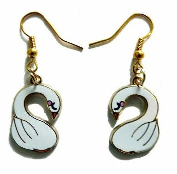 Swan Earrings - Kate Garey