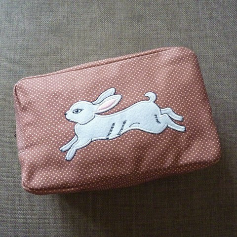 White Rabbit Cosmetic Bag