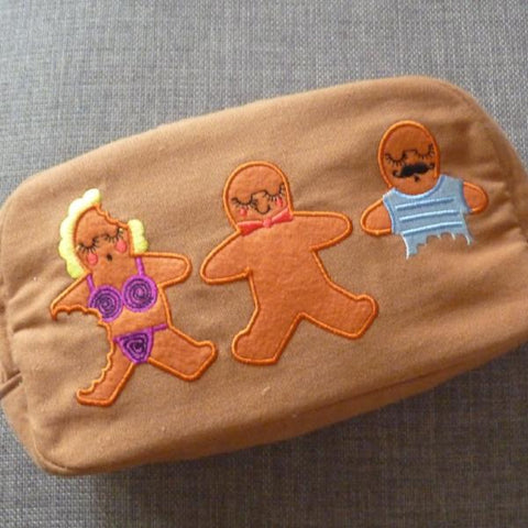 Gingerbread Cosmetic Bag - Kate Garey