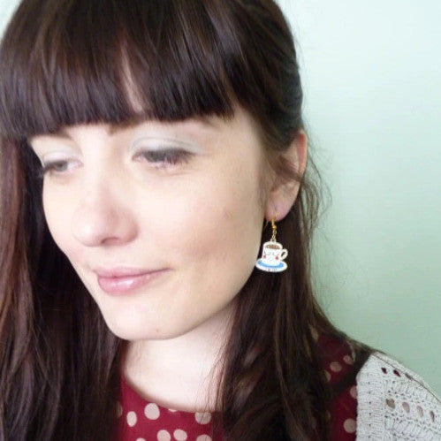 Tea Cup Earrings - Kate Garey