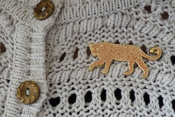 Leopard Pin Brooch - Kate Garey