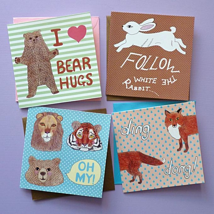 Woodland Friends Card Pack - Kate Garey