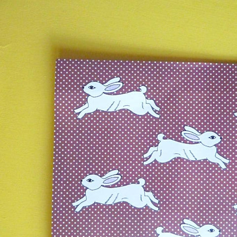 White Rabbit Gift Paper - Kate Garey
