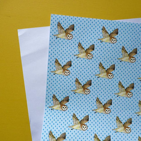 Owl Gift Paper by Kate Garey
