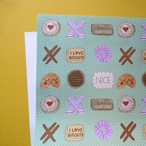 Love Biscuits gift paper by Kate Garey