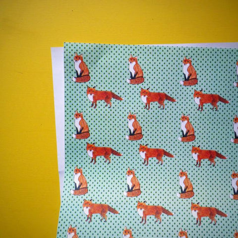 Mr fox Gift Paper - Kate Garey