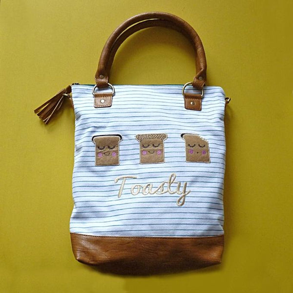 Toasty Stripe Canvas Tote - Kate Garey