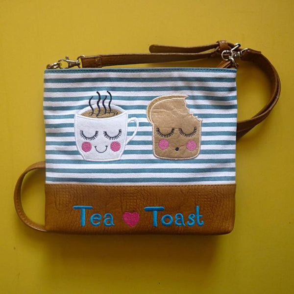 Tea & Toast Over Shoulder Bag - Kate Garey