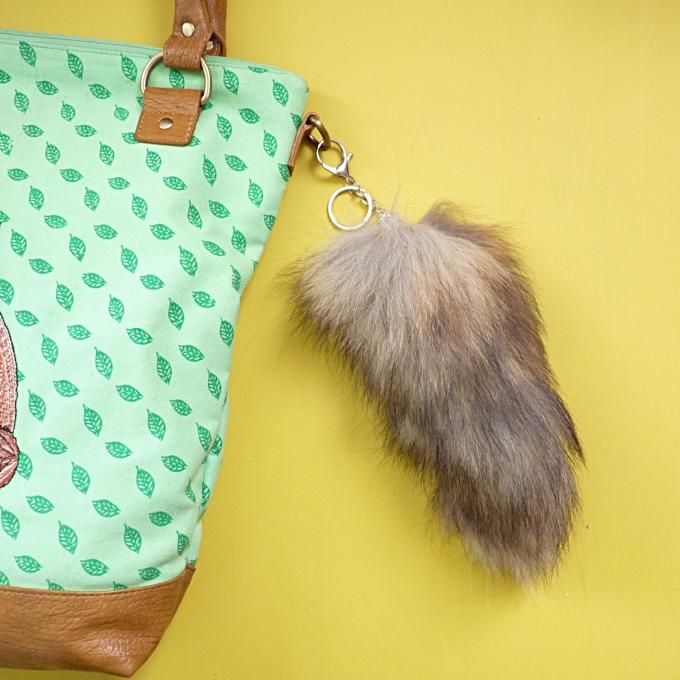 Faux Fur Fox Tail Bag Charm - Kate Garey