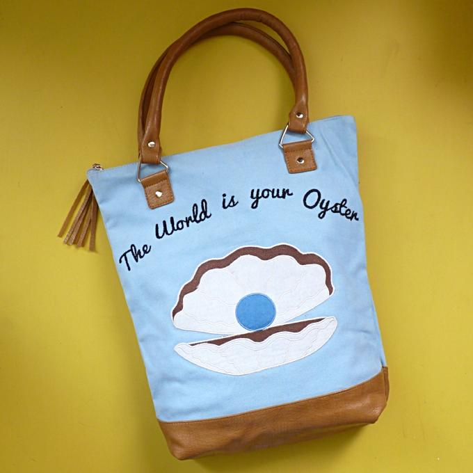 The World is your Oyster Canvas Tote - Kate Garey