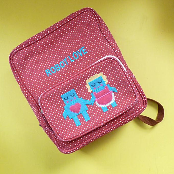 Robot Love Canvas Backpack - Kate Garey