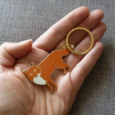 Mr Fox Keyring - Kate Garey
