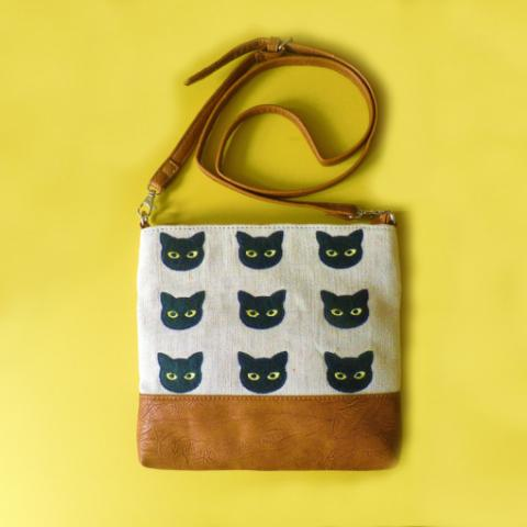 9 Lives Over Shoulder Bag - Kate Garey