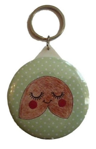Fortune Cookie Pocket Mirror Keyring - Kate Garey