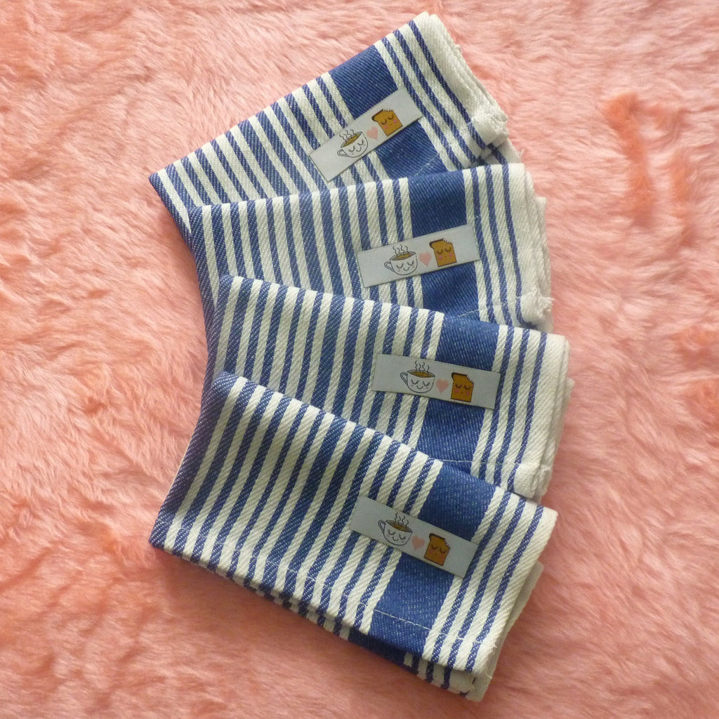 Tea & Toast Stripe Napkins - Pack of 4 - Kate Garey